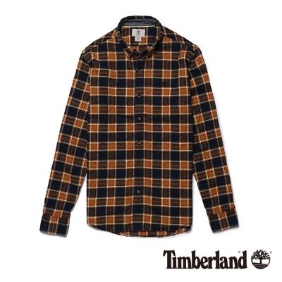 Timberland 男款大地雙色長袖法蘭絨格紋襯衫