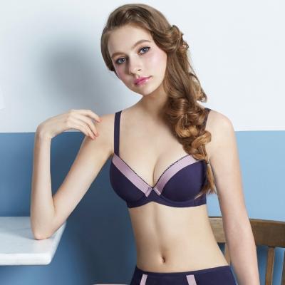 瑪登瑪朵 浪漫法式無痕內衣  B-E罩杯(時尚紫)