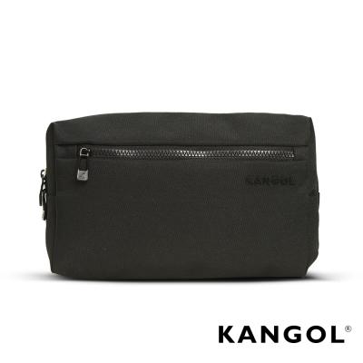 KANGOL-韓國經典側背休閒包-學生包-情侶包-混織黑