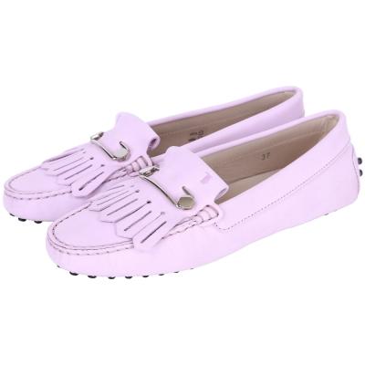 TOD'S Gommino Driving 流蘇拼接豆豆休閒鞋(粉紫色)