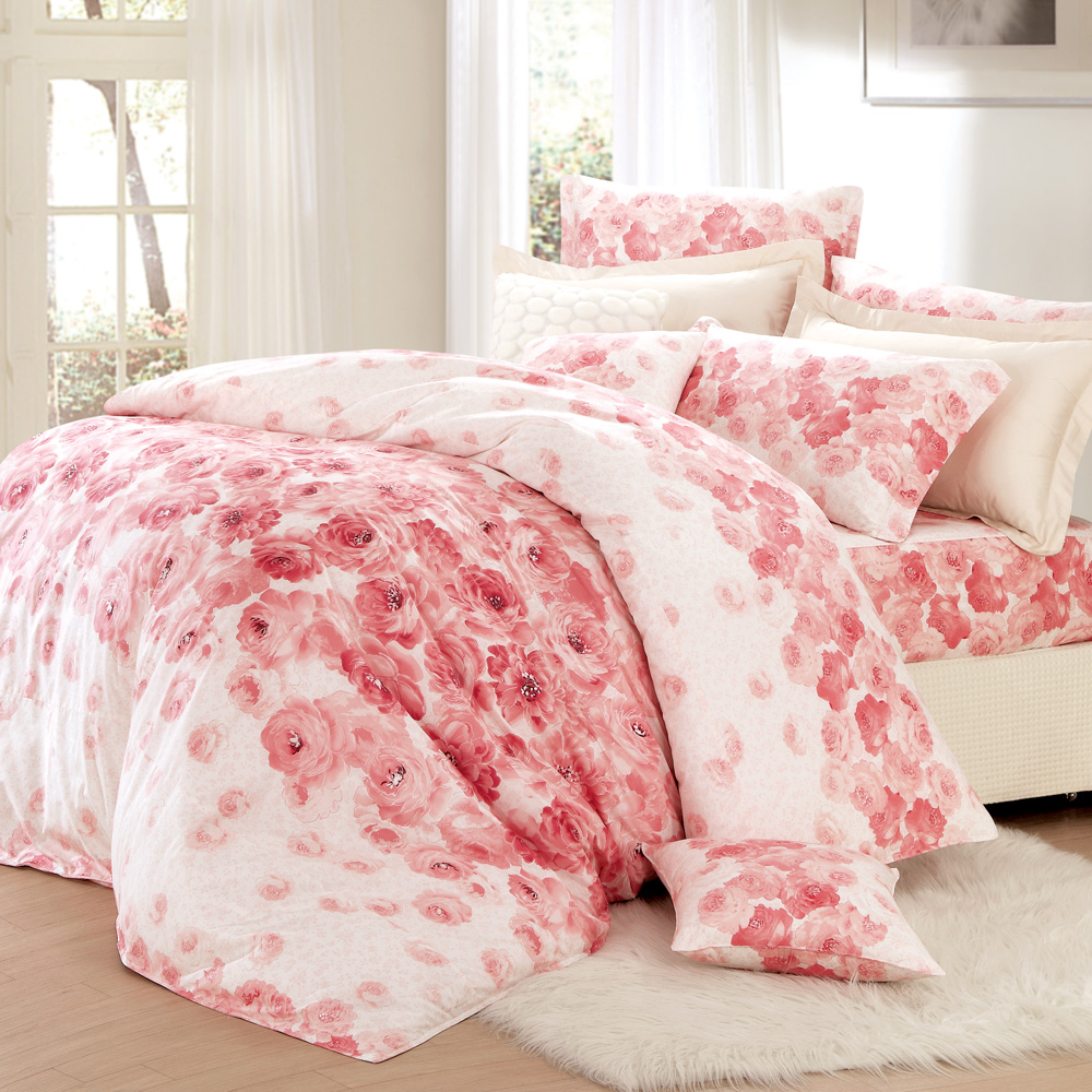 MONTAGUT-情雅花尊-精梳棉-雙人四件式兩用被床包組