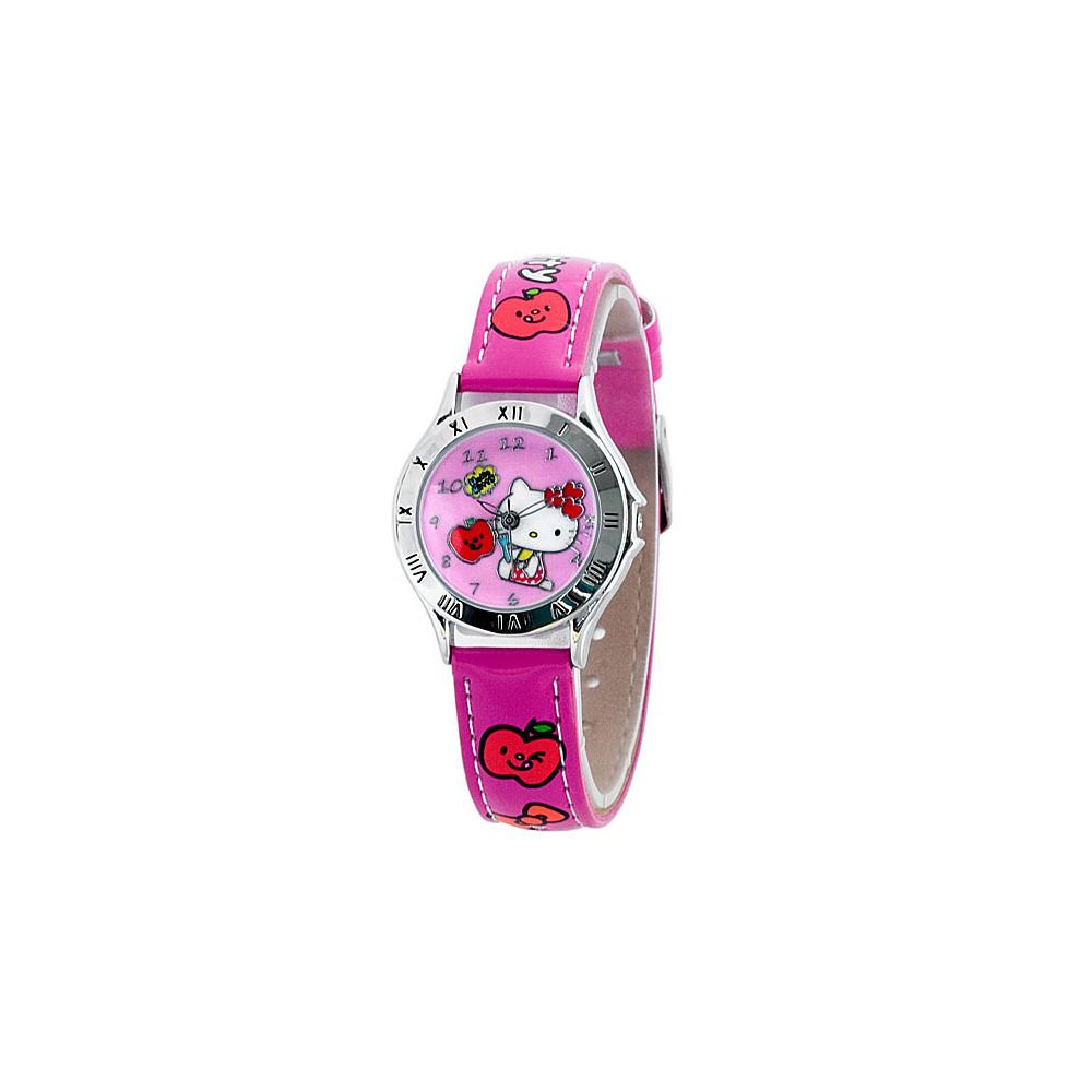 Hello Kitty 蘋果女孩俏麗腕錶-桃紅/28mm