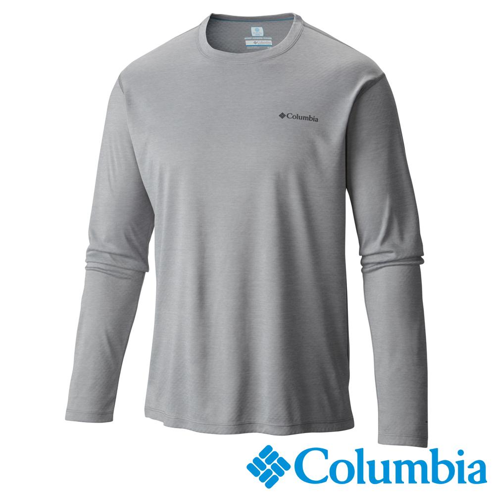 Columbia哥倫比亞 男款-防曬30快排長袖上衣-灰色 UAE60380GY