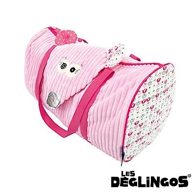 Les Deglingos 立體玩偶旅行側背包(周末休閒包)-老鼠 (COQUELICOS