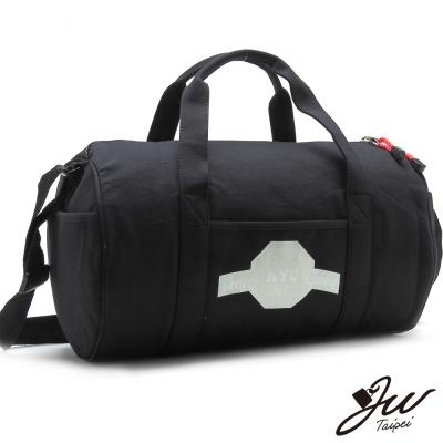 JW紐約NYC休閒棉布運動圓筒包-共3色-百搭黑