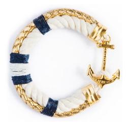 美國手工船錨棉麻繩雙層手環