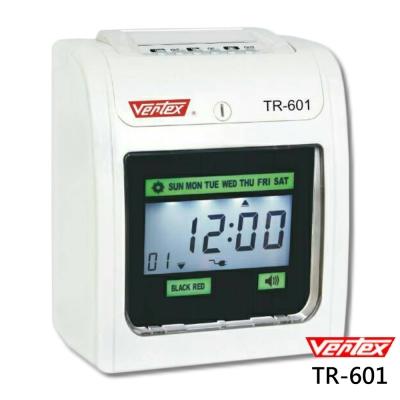 世尚VERTEX 六欄位微電腦雙色液晶螢幕打卡鐘TR-601