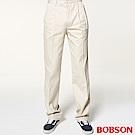 BOBSON 男款雙打摺休閒褲