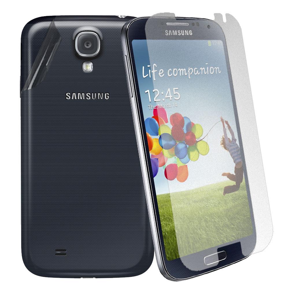 超值二合1 Samsung GALAXY S4 i9500 霧面防刮螢幕貼+機身貼