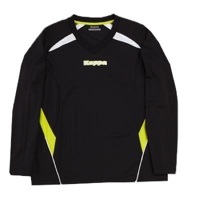 KAPPA 義大利時尚棈典吸濕排汗ALLDRAY型男 黑 岩草綠