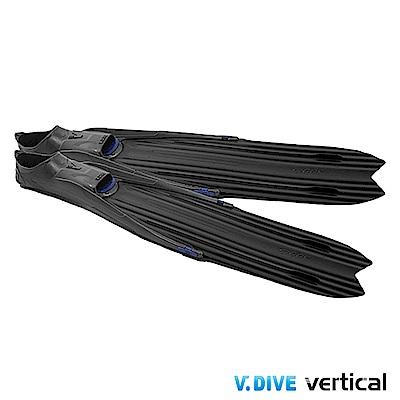 V.DIVE 威帶夫 LONG FIN 潛水長蛙鞋套-F998A 炭黑