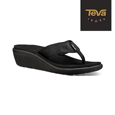 TEVA 美國-女 Voya Wedge 經典織帶高跟輕盈涼鞋 黑