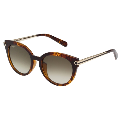 Salvatore Ferragamo 復古 太陽眼鏡 (琥珀色)SF839SA