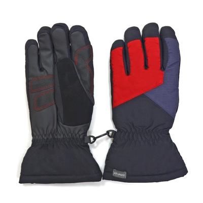 【ATUNAS 歐都納】男款防潑水防風手套(機車/登山/滑雪A1-A1748M黑紅)