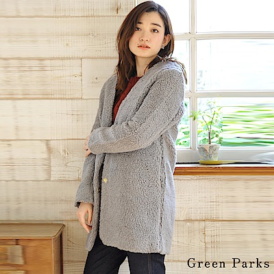 Green Parks 保暖短絨毛長版外套