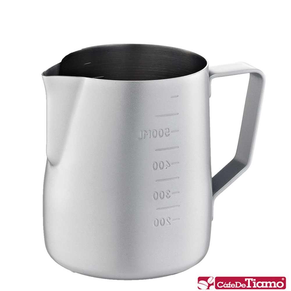 Tiamo 專業內外刻度不鏽鋼拉花杯600cc-不沾塗層(HC7087)