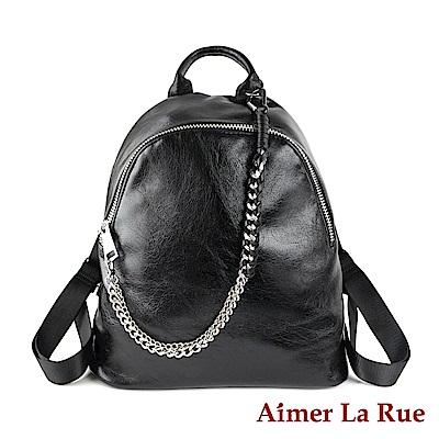 Aimer La Rue 後背包 美式率性鍊條系列(黑色)