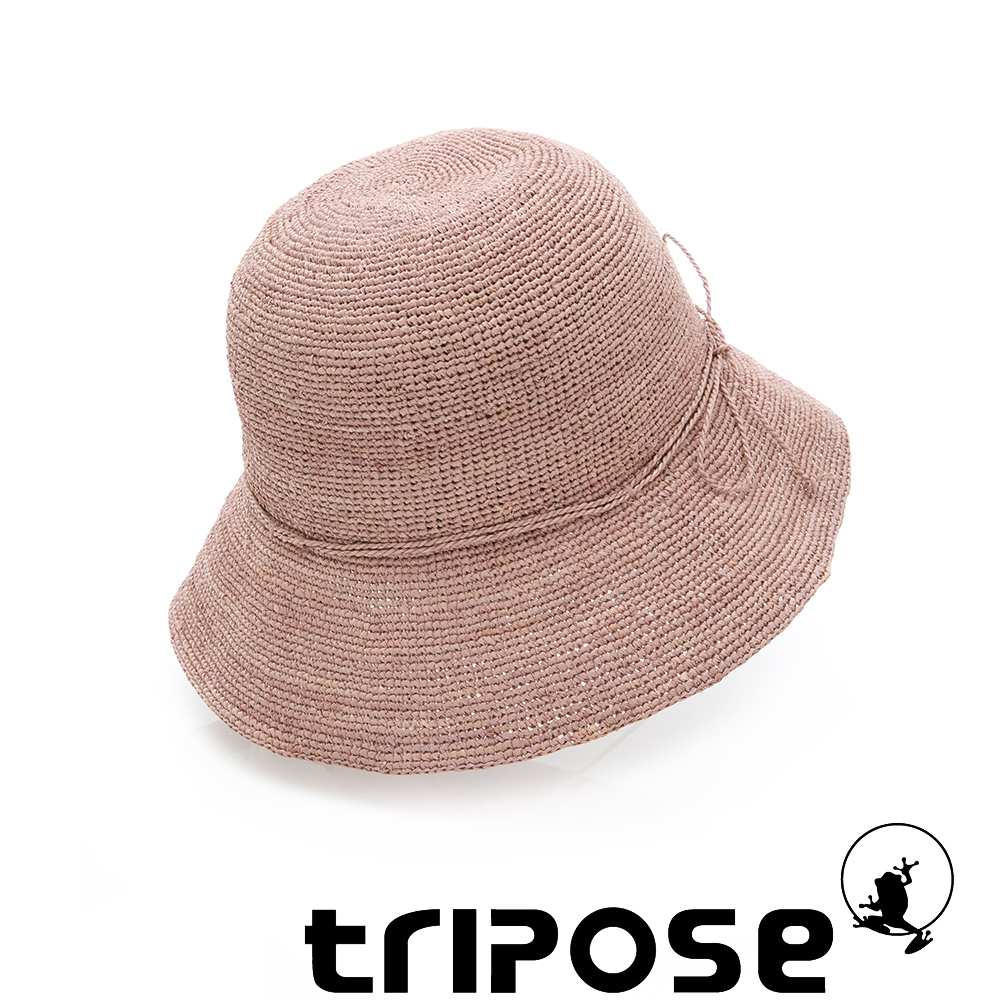 tripose 經典優雅-100%手工Raffia時尚遮陽草帽-帽簷-8cm(淺咖色)