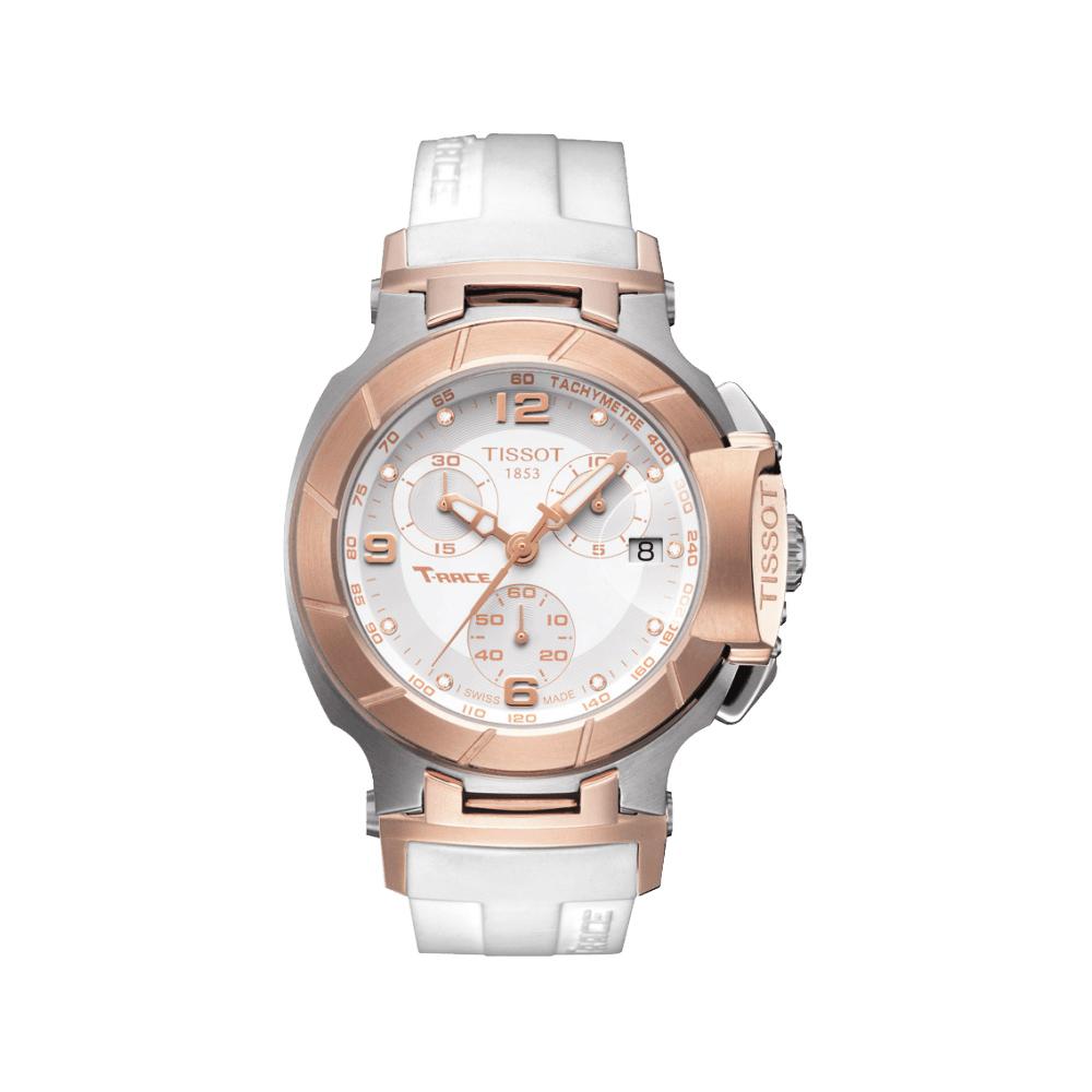 TISSOT T-RACE 真鑽計時腕錶(T0482172701601)-玫瑰金/41mm