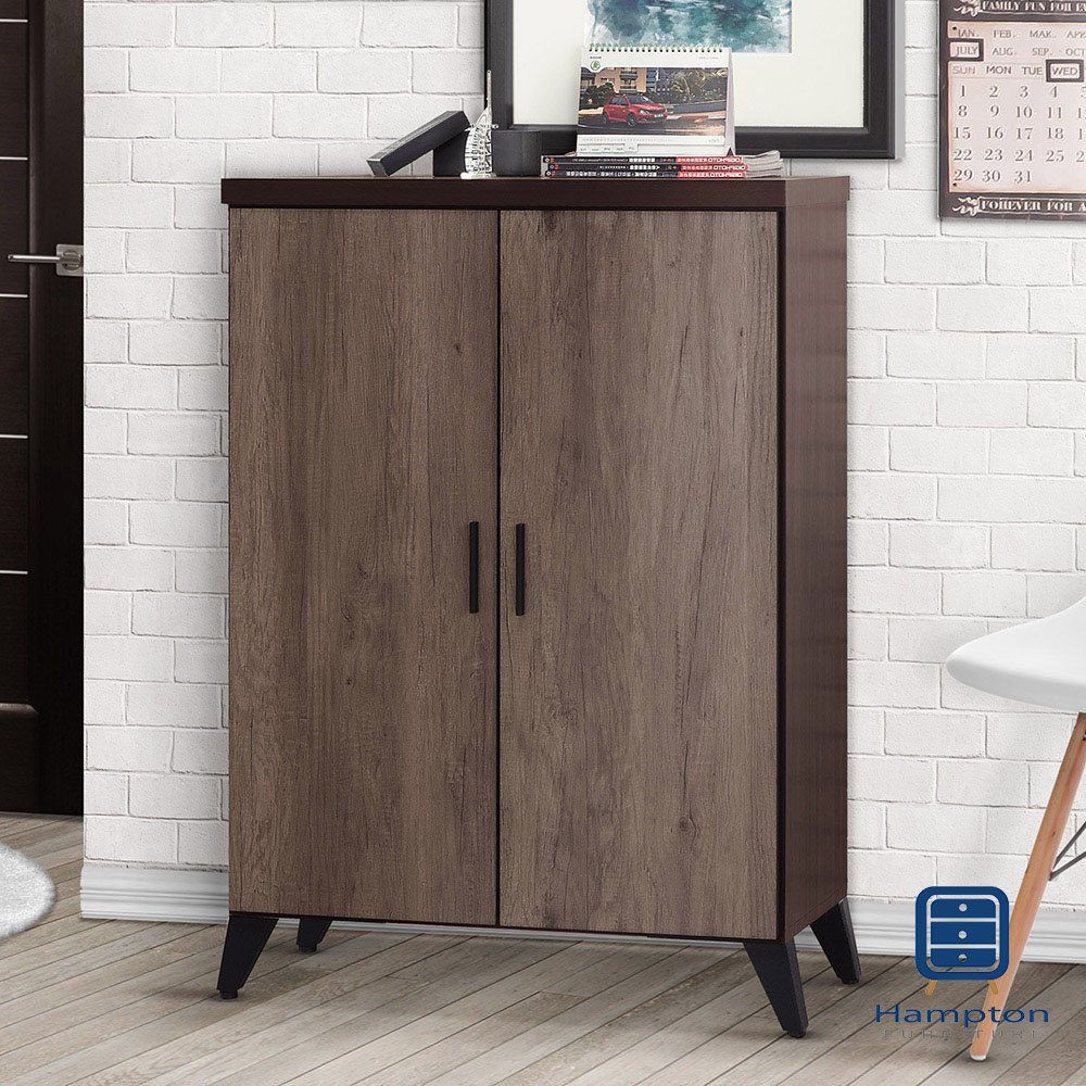 漢妮Hampton深古銅色2.7尺雙門鞋櫃-81x39x121cm