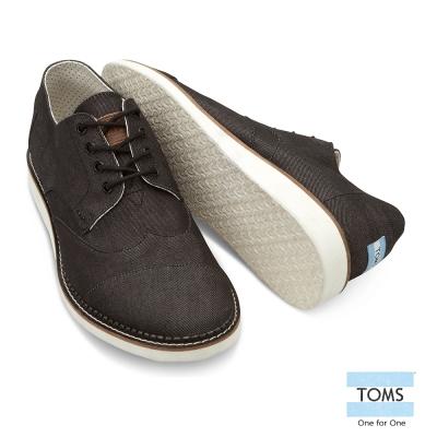 TOMS 英國學院牛津鞋-男款(丹寧黑)