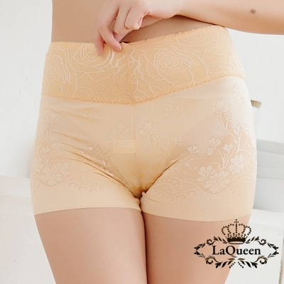 塑褲  細緻提花蠶絲無痕修飾褲-膚 La Queen