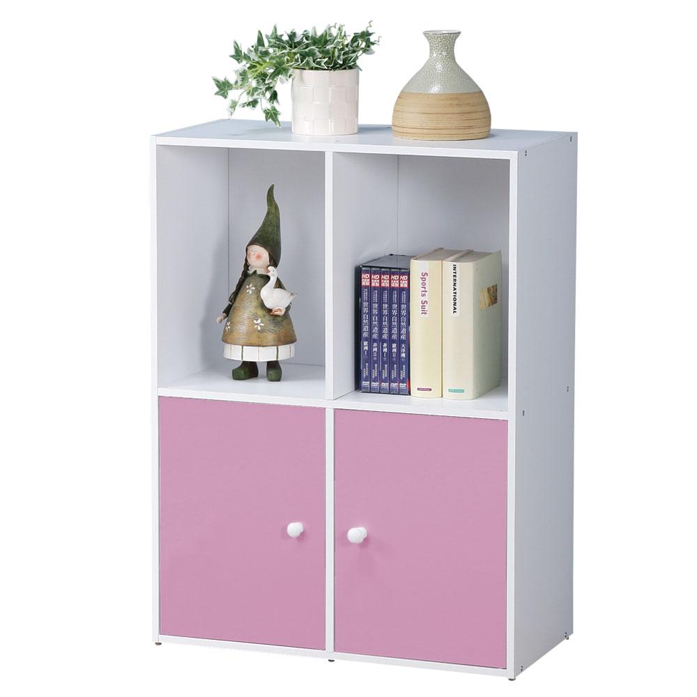 Homelike 現代風二層二門置物櫃(三色)