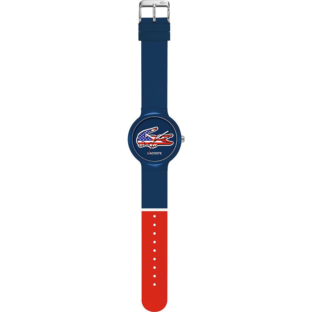 Lacoste 國旗系列世足賽熱血腕錶-美國/40mm