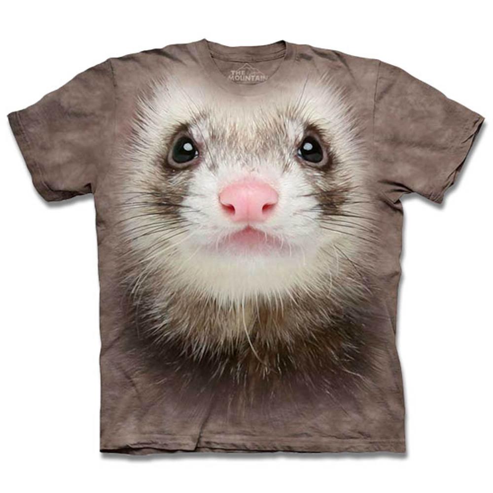 摩達客-美國The Mountain 白鼬臉 兒童版純棉環保短袖T恤