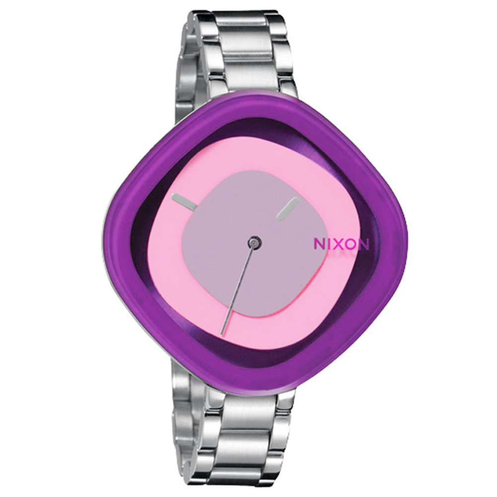 NIXON The Zona 幾何線條俐落之美腕錶-紫/41mm