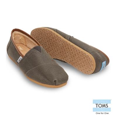 TOMS 經典滾邊內刷毛懶人鞋-男款(灰)