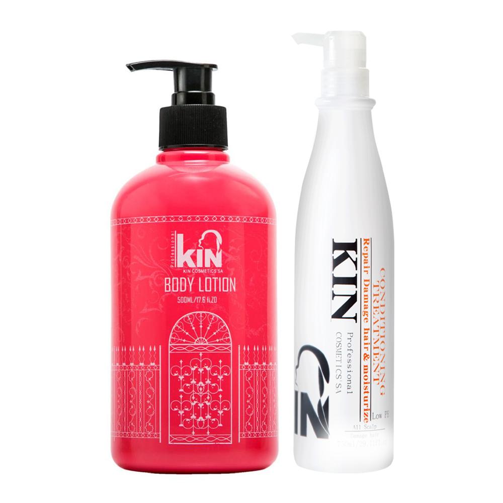KIN卡碧絲 買還原酸蛋白還原護髮素250ml送水漾馨肌身體乳500ml