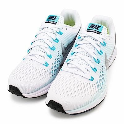 NIKE-AIR ZOOM女慢跑鞋880560104-淺藍