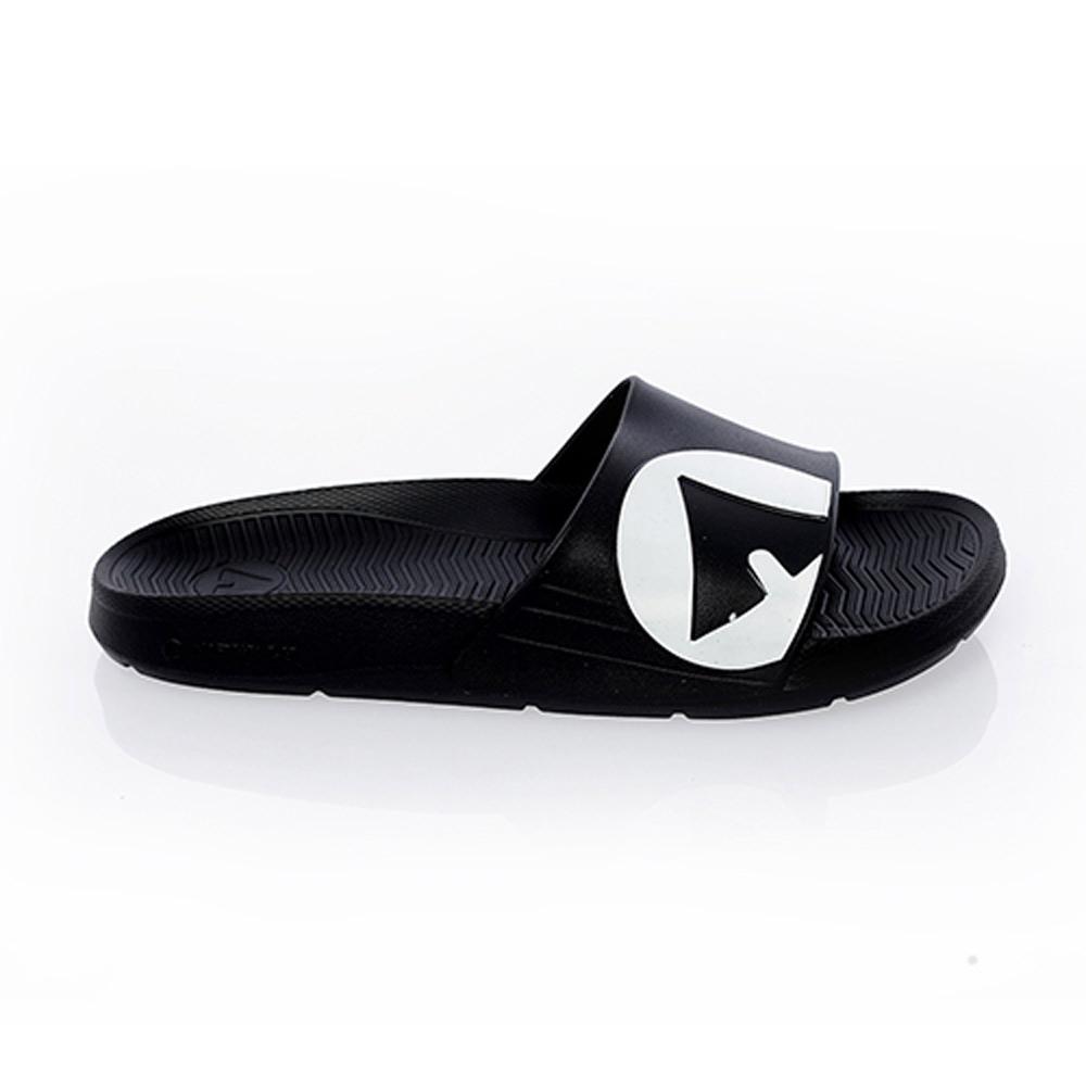 【AIRWALK】 防滑耐磨室內外拖鞋-黑色