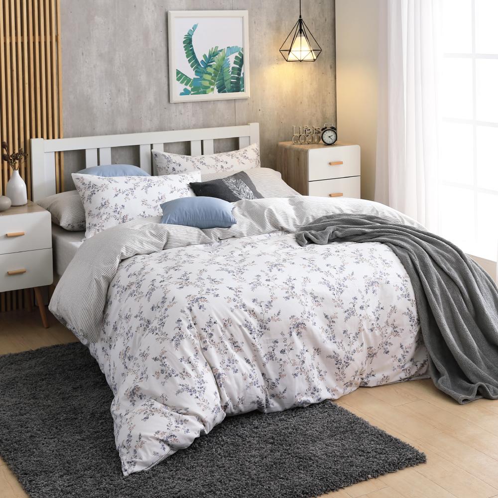 鴻宇HongYew 100%精梳棉  小春日和 雙人床包枕套三件組