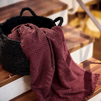 法國薇瓦瑞-浴巾-紫紅