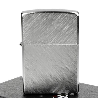 【ZIPPO】美系~Herringbone Sweep人字形拉絲刷紋鍍鉻打火機