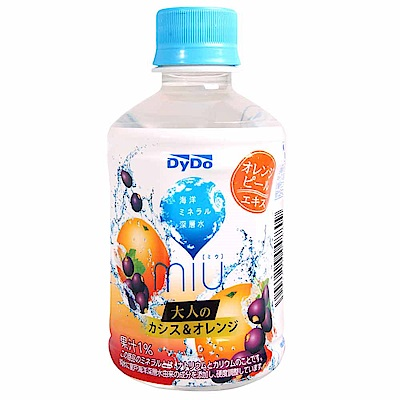 DYDO miu 黑醋栗橘子風味水(280ml)