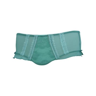 曼黛瑪璉-花寶Bra-低腰平口蕾絲褲-陰鬱藍