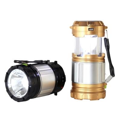 多用途兩用伸縮戶外露營探照燈-黑/金(GL-9599-Z)-快