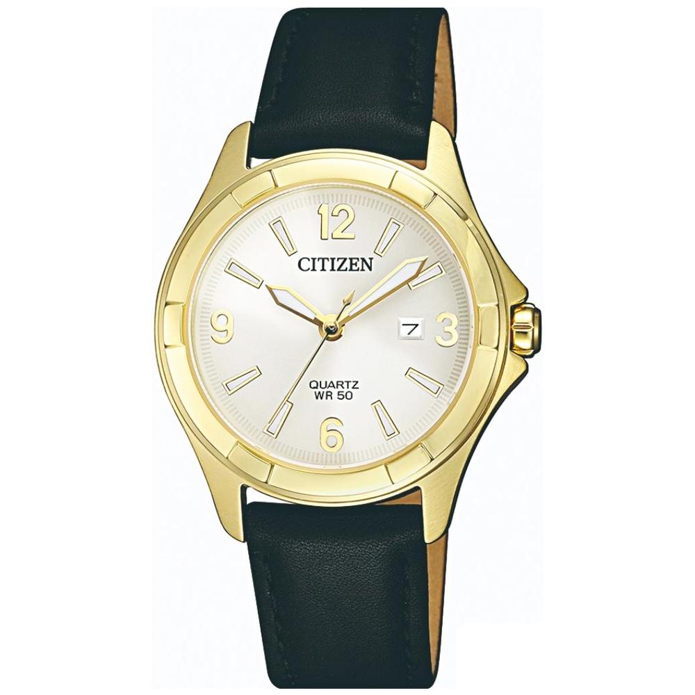 CITIZEN星辰 率性魅力石英女錶 (EU6082-01A)-白色/32mm