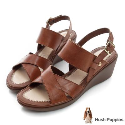Hush Puppies RANDOM 軟Q腳床械形涼鞋-棕色