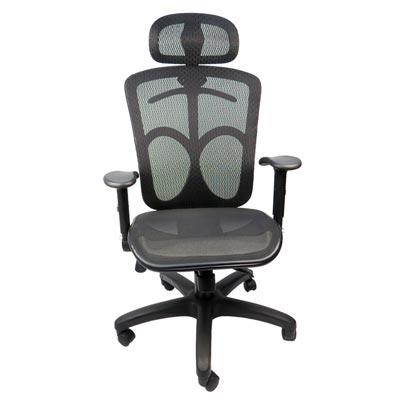 LOGIS邏爵 盾牌護腰壓框式全網辦公椅/電腦椅/工學椅