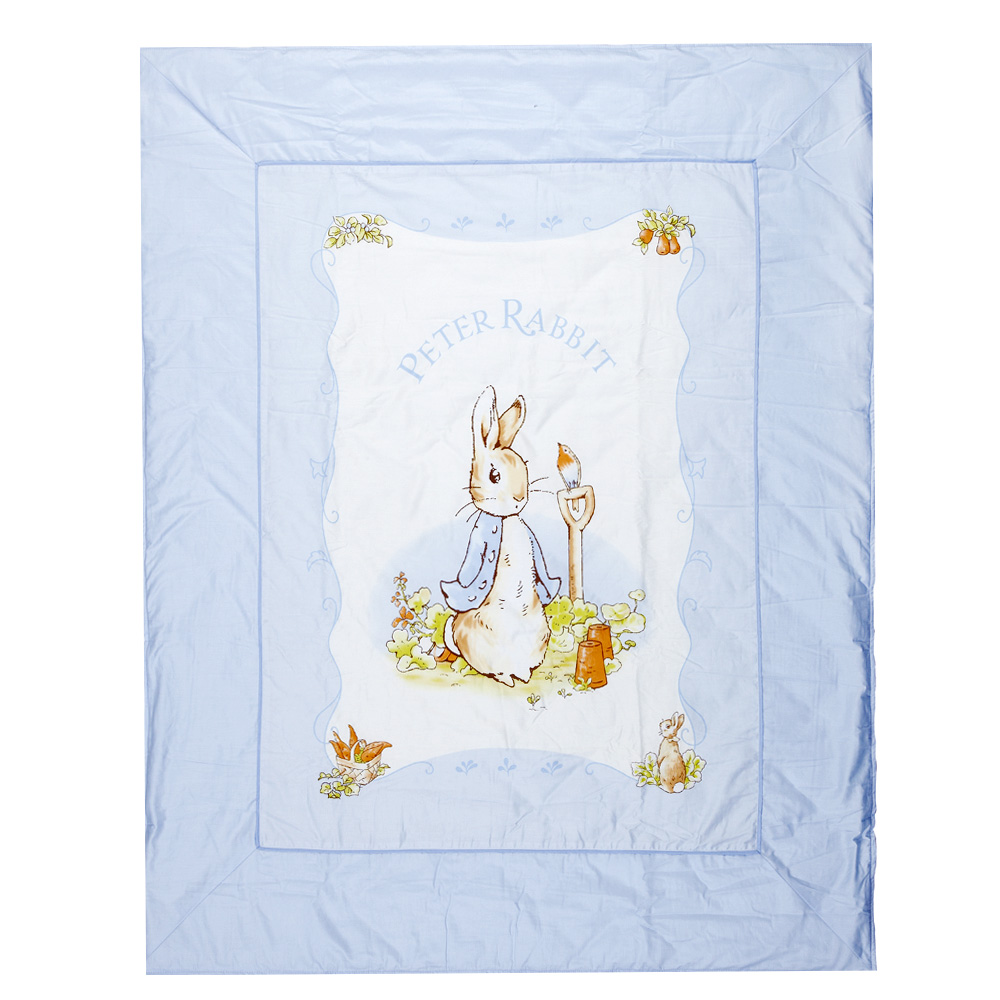 【奇哥】比得兔粉彩格紋-大涼被 (2色選擇)