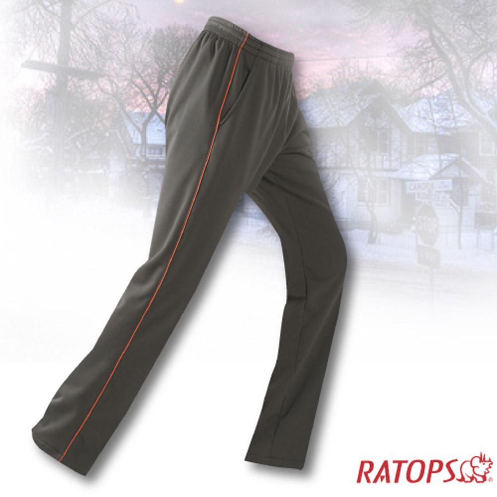 【瑞多仕】中性款 刷毛保暖長褲(出芽配)_DB5936 暗綠/桔橙色 V1