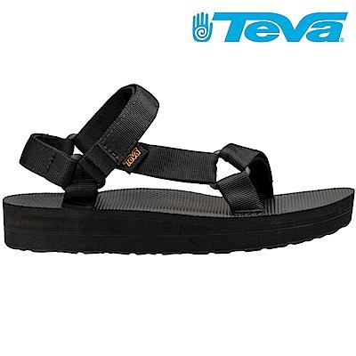 TEVA Midform Universal 女厚底休閒涼鞋 黑
