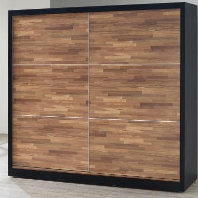 H&D 波妮積層木7尺推門衣櫥 (寬212X深60.5X高194cm)
