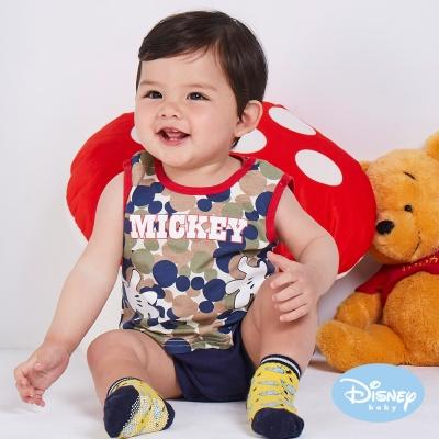 Disney Baby 拍手米奇背心連身裝 綠色