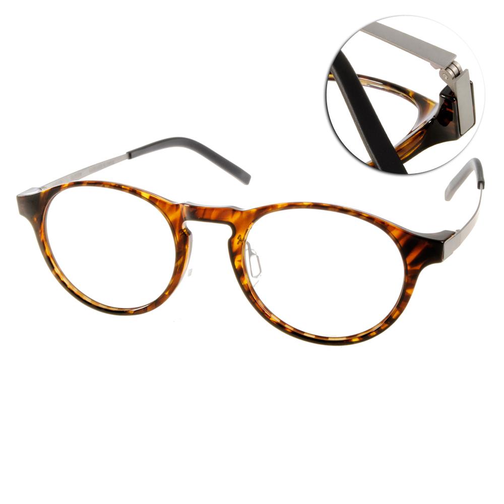 JULIO眼鏡 完美工藝/咖啡棕-銀#SHANGHAI HAV