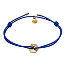 MARC BY MARC JACOBS金燦六角造型飾牌寶藍細繩手環